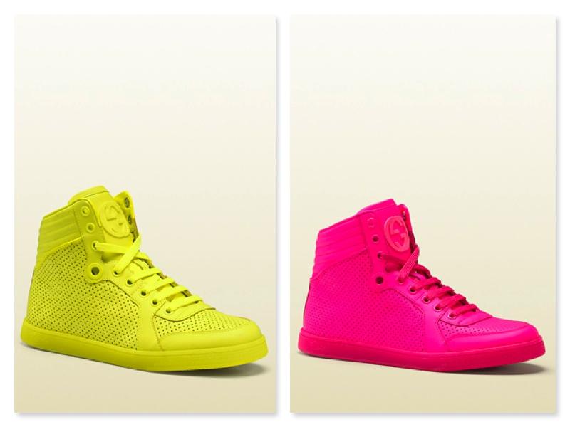 scarpe gucci giallo fluo