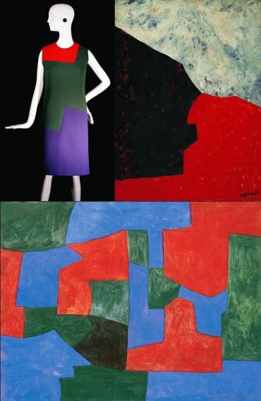 moda-e-arte-yves-saint-laurent-1965-serge-poliakoff-composicao-abstrata-de-1960-composicao-cerde-azul-e-vermelha-1965