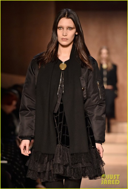 PARIS, FRANCE - MARCH 06: Bella Hadid walks the runway during the Givenchy show as part of the Paris Fashion Week Womenswear Fall/Winter 2016/2017 on March 6, 2016 in Paris, France. (Photo by Pascal Le Segretain/Getty Images)