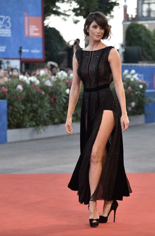 GEMMA ARTERTON in Giorgio Armani %22The Young Pope%22 premiere