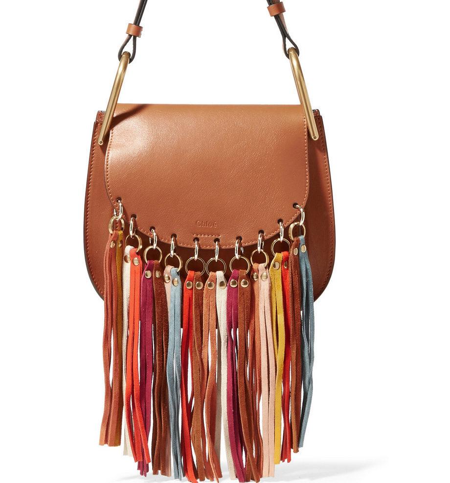 chloe-hudson-tan-leather-multicolored-suede-tassels-shoulder-bag