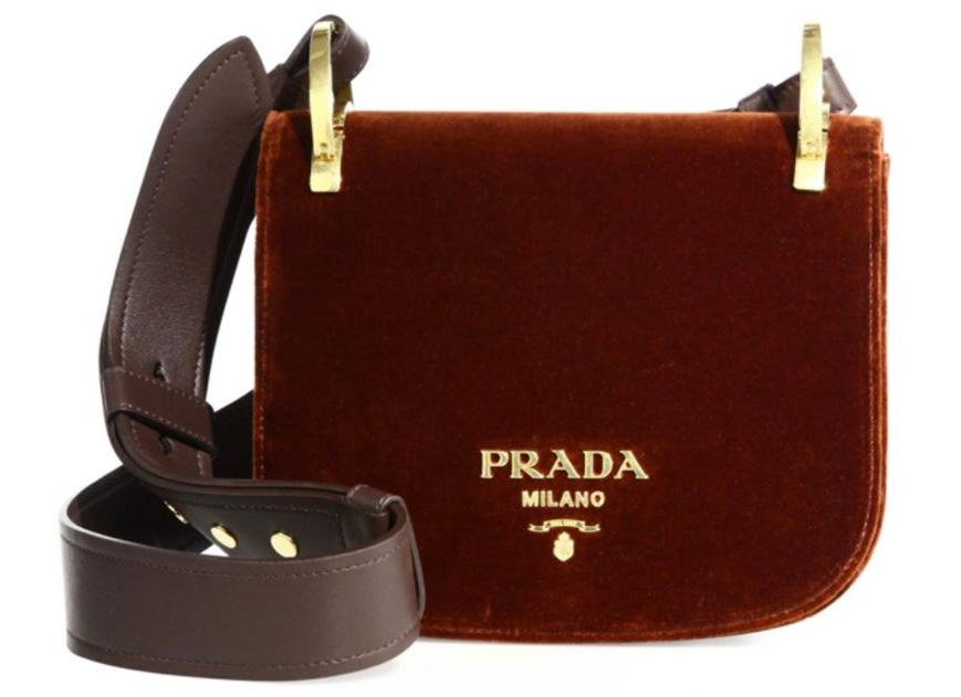 Prada-Pionniere-Velvet-Saddle-Bag