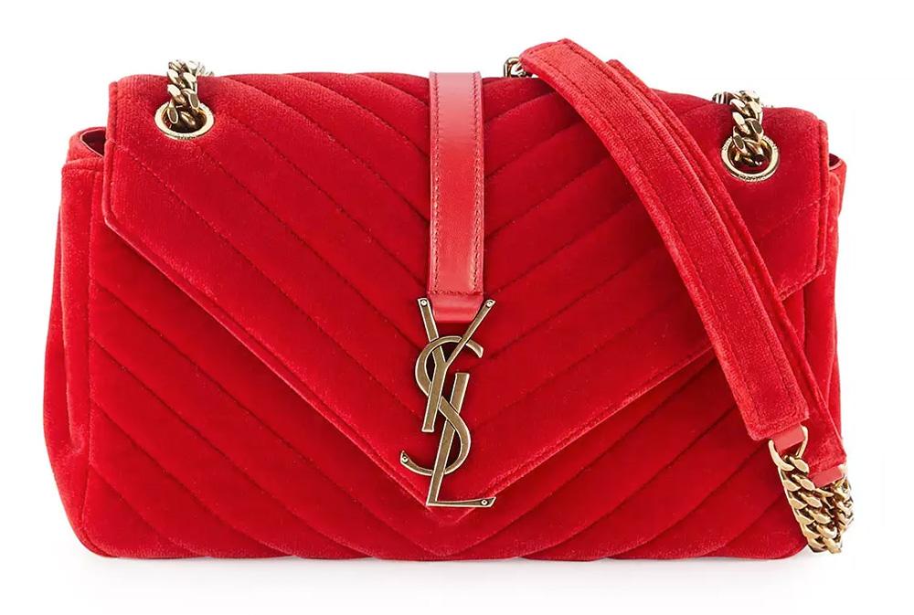 Saint-Laurent-Monogram-Medium-Velvet-Shoulder-Bag