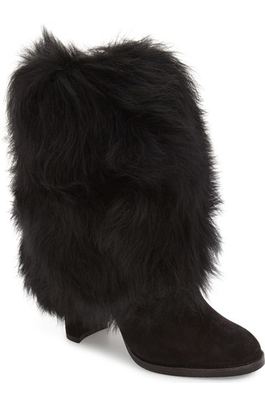 Stuart Weitzman Faux Fur Snowman Bootie (Women)
