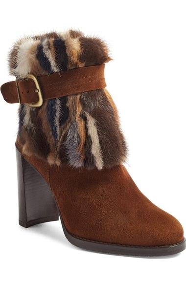 Stuart Weitzman 'Gofurit' Genuine Mink Fur Bootie (Women)