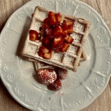 Waffle alle fragole